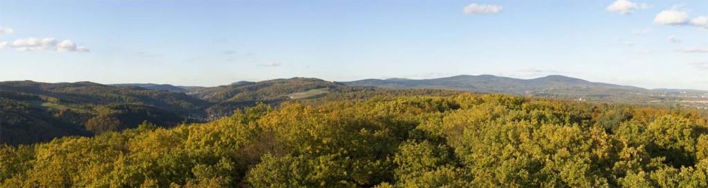 Herbstlicher Blick vom Meisterturm nach Norden